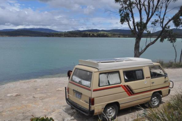 Free Campsite at Lime Bay as storm rolls over